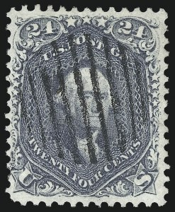 Sale Number 1074, Lot Number 759, 24c Lilac, Steel Blue, Violet Shades, 1861 Issue (Scott 70-70d)24c Pale Gray Violet, Thin Paper (70d), 24c Pale Gray Violet, Thin Paper (70d)