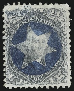 Sale Number 1074, Lot Number 900, 24c Lilac and Blackish Violet Shades, 1863 Issue (Scott 78-78c)24c Gray (78b), 24c Gray (78b)