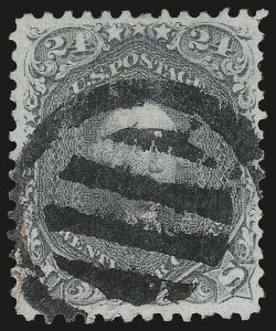 Sale Number 1074, Lot Number 902, 24c Lilac and Blackish Violet Shades, 1863 Issue (Scott 78-78c)24c Gray (78b), 24c Gray (78b)