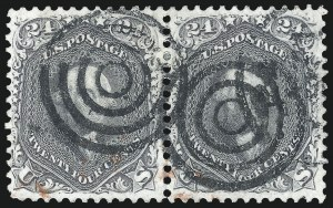 Sale Number 1074, Lot Number 907, 24c Lilac and Blackish Violet Shades, 1863 Issue (Scott 78-78c)24c Gray (78b), 24c Gray (78b)