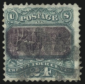 Sale Number 1075, Lot Number 1110, 1869 Pictorial Isssue, Inverts and 1875 Re-Issue24c Green & Violet, Center Inverted (120b), 24c Green & Violet, Center Inverted (120b)