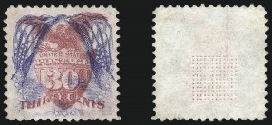 Sale Number 1075, Lot Number 1111, 1869 Pictorial Isssue, Inverts and 1875 Re-Issue30c Ultramarine & Carmine, Flags Inverted (121b), 30c Ultramarine & Carmine, Flags Inverted (121b)