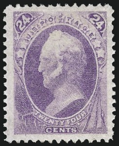 Sale Number 1075, Lot Number 1123, 1870-88 Bank Note Issues24c Purple (153), 24c Purple (153)