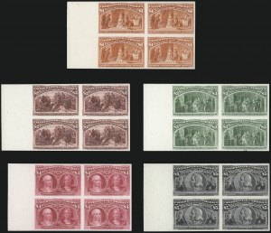 Sale Number 1075, Lot Number 1134, 1893 Columbian Issue1c-$5.00 Columbian, Plate Proofs on Card (230P4-245P4), 1c-$5.00 Columbian, Plate Proofs on Card (230P4-245P4)