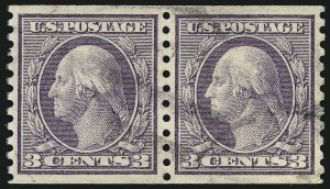 Sale Number 1075, Lot Number 1164, 20th Century Issues3c Violet, Coil (456), 3c Violet, Coil (456)