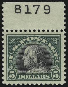 Sale Number 1075, Lot Number 1165, 20th Century Issues$5.00 Deep Green & Black (524), $5.00 Deep Green & Black (524)