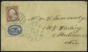 Sale Number 1075, Lot Number 1198, Carriers and Locals, Western ExpressBrown & McGill's U.S.P.O. Despatch, Louisville Ky., (2c) Blue (5LB2), Brown & McGill's U.S.P.O. Despatch, Louisville Ky., (2c) Blue (5LB2)