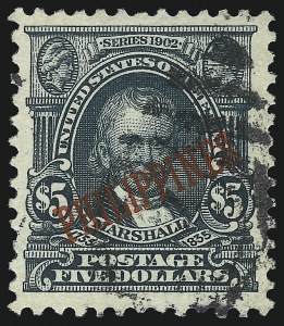 Sale Number 1075, Lot Number 1246, U.S. Possessions and HawaiiPHILIPPINES, 1903, $5.00 Dark Green (239), PHILIPPINES, 1903, $5.00 Dark Green (239)