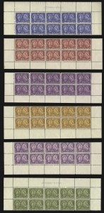 Sale Number 1075, Lot Number 1280, Worldwide Stamps: CanadaCANADA, 1897, -1/2c-$5.00 Jubilee (50-65; SG 121/140). Complete set of Mint N.H, CANADA, 1897, -1/2c-$5.00 Jubilee (50-65; SG 121/140). Complete set of Mint N.H