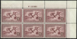 Sale Number 1076, Lot Number 2042, United States Hunting Permit Multiples$1.00 1935 Hunting Permit (RW2), $1.00 1935 Hunting Permit (RW2)