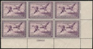 Sale Number 1076, Lot Number 2045, United States Hunting Permit Multiples$1.00 1938 Hunting Permit (RW5), $1.00 1938 Hunting Permit (RW5)
