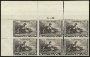 Sale Number 1076, Lot Number 2046, United States Hunting Permit Multiples$1.00 1939 Hunting Permit (RW6), $1.00 1939 Hunting Permit (RW6)