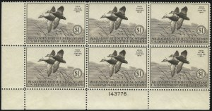 Sale Number 1076, Lot Number 2047, United States Hunting Permit Multiples$1.00 1940 Hunting Permit (RW7), $1.00 1940 Hunting Permit (RW7)