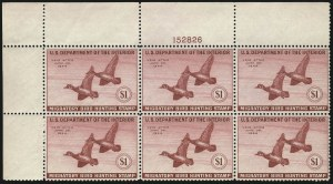 Sale Number 1076, Lot Number 2050, United States Hunting Permit Multiples$1.00 1943 Hunting Permit (RW10), $1.00 1943 Hunting Permit (RW10)