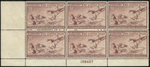 Sale Number 1076, Lot Number 2053, United States Hunting Permit Multiples$1.00 1946 Hunting Permit (RW13), $1.00 1946 Hunting Permit (RW13)