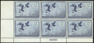 Sale Number 1076, Lot Number 2058, United States Hunting Permit Multiples$2.00 1955 Hunting Permit (RW22), $2.00 1955 Hunting Permit (RW22)