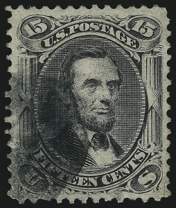 Sale Number 1077, Lot Number 100, 1867-68 Grilled Issue (Scott 79-101)15c Black, E. Grill (91), 15c Black, E. Grill (91)