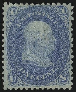 Sale Number 1077, Lot Number 101, 1867-68 Grilled Issue (Scott 79-101)1c Blue, F. Grill (92), 1c Blue, F. Grill (92)