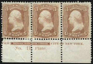 Sale Number 1077, Lot Number 102, 1867-68 Grilled Issue (Scott 79-101)3c Red, F. Grill (94), 3c Red, F. Grill (94)