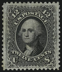 Sale Number 1077, Lot Number 104, 1867-68 Grilled Issue (Scott 79-101)12c Black, F. Grill, Very Thin Paper (97 var), 12c Black, F. Grill, Very Thin Paper (97 var)