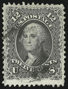 Sale Number 1077, Lot Number 105, 1867-68 Grilled Issue (Scott 79-101)12c Black, F. Grill (97), 12c Black, F. Grill (97)