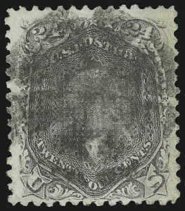 Sale Number 1077, Lot Number 107, 1867-68 Grilled Issue (Scott 79-101)24c Gray Lilac, F. Grill (99), 24c Gray Lilac, F. Grill (99)