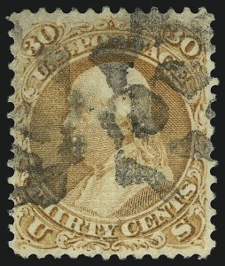 Sale Number 1077, Lot Number 108, 1867-68 Grilled Issue (Scott 79-101)30c Orange, F. Grill (100), 30c Orange, F. Grill (100)