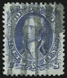 Sale Number 1077, Lot Number 109, 1867-68 Grilled Issue (Scott 79-101)90c Blue, F. Grill (101), 90c Blue, F. Grill (101)