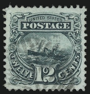 Sale Number 1077, Lot Number 117, 1869 Pictorial Issue (Scott 112-122)12c Green (117), 12c Green (117)