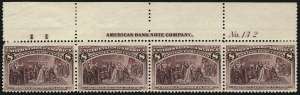 Sale Number 1077, Lot Number 169, 1893 Columbian Issue (Scott 230-245)1c-8c Columbian (230-236), 1c-8c Columbian (230-236)