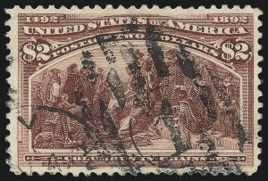 Sale Number 1077, Lot Number 177, 1893 Columbian Issue (Scott 230-245)$2.00 Columbian (242), $2.00 Columbian (242)
