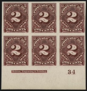 Sale Number 1077, Lot Number 18, Essays and Proofs2c Claret, 1894 Postage Due Issue, Plate Proof on Card (J32P4), 2c Claret, 1894 Postage Due Issue, Plate Proof on Card (J32P4)