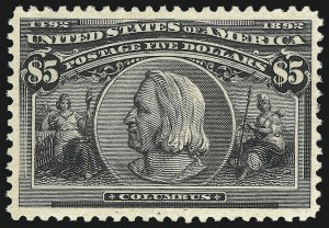 Sale Number 1077, Lot Number 183, 1893 Columbian Issue (Scott 230-245)$5.00 Columbian (245), $5.00 Columbian (245)
