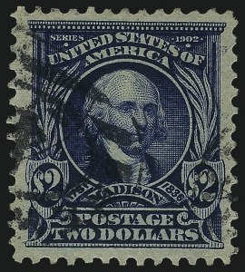 Sale Number 1077, Lot Number 221, 1898 Trans-Mississippi thru 1902-08 Issue (Scott 285-320)$2.00 Dark Blue (312), $2.00 Dark Blue (312)