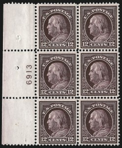 Sale Number 1077, Lot Number 256, 1912-15 Washington-Franklin Issues (Scott 405-461)10c-15c 1912-14 Issue (416-418), 10c-15c 1912-14 Issue (416-418)