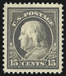 Sale Number 1077, Lot Number 257, 1912-15 Washington-Franklin Issues (Scott 405-461)15c Gray (418), 15c Gray (418)