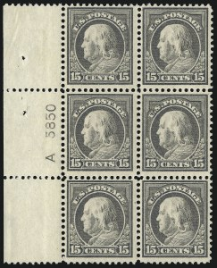 Sale Number 1077, Lot Number 258, 1912-15 Washington-Franklin Issues (Scott 405-461)15c Gray (418), 15c Gray (418)