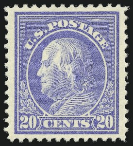 Sale Number 1077, Lot Number 259, 1912-15 Washington-Franklin Issues (Scott 405-461)20c Ultramarine (419), 20c Ultramarine (419)