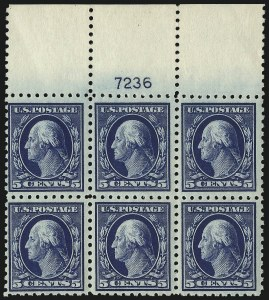 Sale Number 1077, Lot Number 262, 1912-15 Washington-Franklin Issues (Scott 405-461)5c Blue (428), 5c Blue (428)