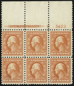 Sale Number 1077, Lot Number 263, 1912-15 Washington-Franklin Issues (Scott 405-461)6c Red Orange (429), 6c Red Orange (429)