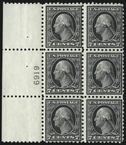 Sale Number 1077, Lot Number 264, 1912-15 Washington-Franklin Issues (Scott 405-461)7c Black (430), 7c Black (430)
