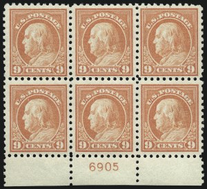 Sale Number 1077, Lot Number 265, 1912-15 Washington-Franklin Issues (Scott 405-461)9c Salmon Red (432), 9c Salmon Red (432)