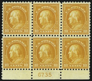 Sale Number 1077, Lot Number 267, 1912-15 Washington-Franklin Issues (Scott 405-461)10c-12c 1913-15 Issue (433, 435, 435a), 10c-12c 1913-15 Issue (433, 435, 435a)