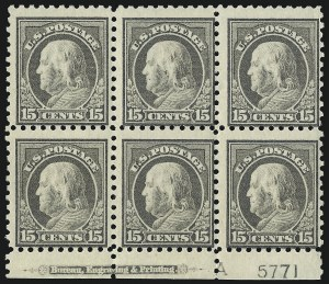 Sale Number 1077, Lot Number 268, 1912-15 Washington-Franklin Issues (Scott 405-461)15c Gray (437), 15c Gray (437)