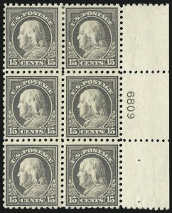 Sale Number 1077, Lot Number 270, 1912-15 Washington-Franklin Issues (Scott 405-461)15c Gray (437), 15c Gray (437)