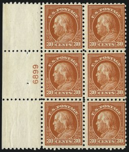 Sale Number 1077, Lot Number 272, 1912-15 Washington-Franklin Issues (Scott 405-461)30c Orange Red (439), 30c Orange Red (439)