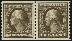 Sale Number 1077, Lot Number 273, 1912-15 Washington-Franklin Issues (Scott 405-461)4c Brown, Coil (446), 4c Brown, Coil (446)