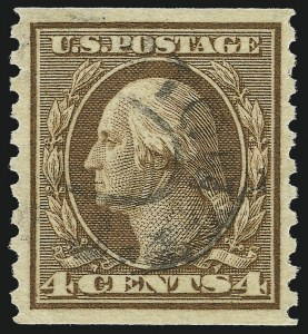 Sale Number 1077, Lot Number 275, 1912-15 Washington-Franklin Issues (Scott 405-461)4c Brown, Coil (457), 4c Brown, Coil (457)