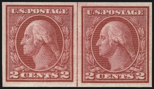 Sale Number 1077, Lot Number 276, 1912-15 Washington-Franklin Issues (Scott 405-461)2c Carmine, Ty. I, Imperforate Coil (459), 2c Carmine, Ty. I, Imperforate Coil (459)