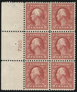 Sale Number 1077, Lot Number 279, 1912-15 Washington-Franklin Issues (Scott 405-461)2c Pale Carmine Red, Ty. I (461), 2c Pale Carmine Red, Ty. I (461)